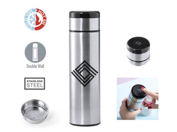 Thermos en Acier Inoxydable de 420 ml avec Compteur Tactile Inté