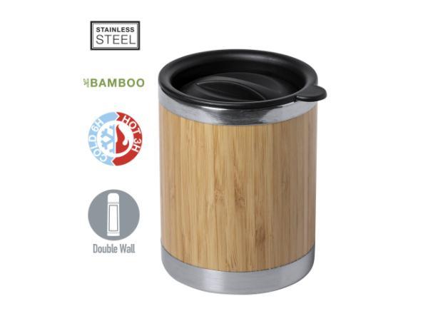 Verre en Bambou avec Couvercle de 300 ml