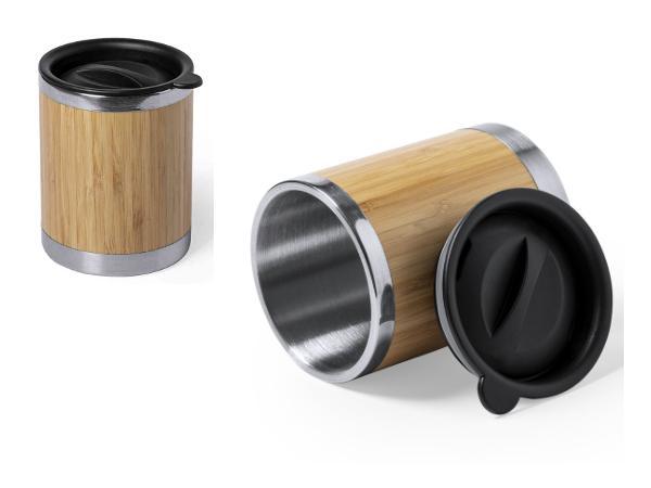 Verre en Bambou avec Couvercle de 300 ml - visuel 2