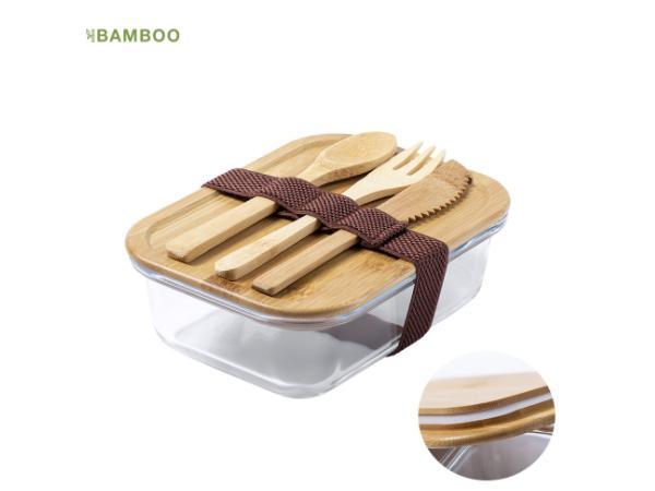 Lunchbox de 700 ml en Verre et Bambou