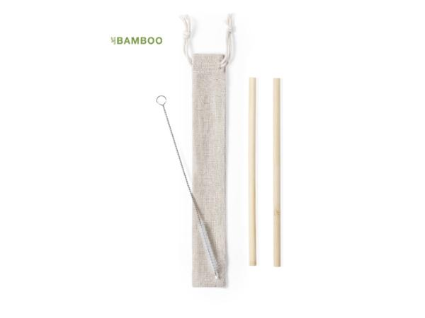 Set de Pailles Réutilisables en Bambou