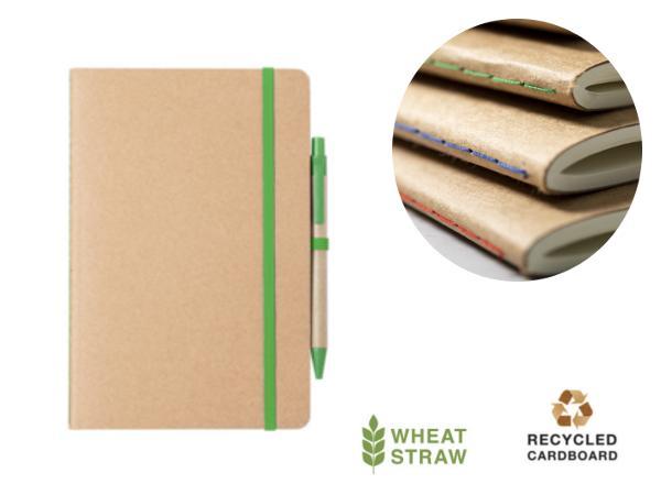 Cahier et Stylo en Carton Recyclé