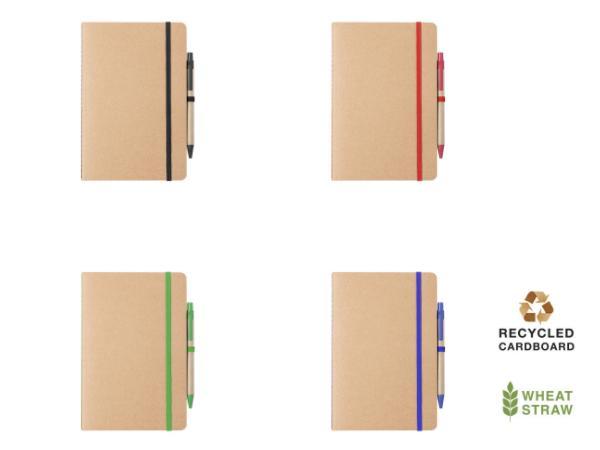 Cahier et Stylo en Carton Recyclé - visuel 3