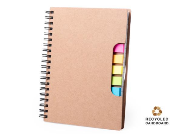 Carnet à Spirales avec Petites Notes Repositionnables Colorés