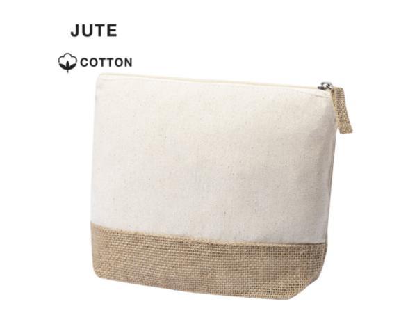 Trousse de Toilette en Jute et Coton