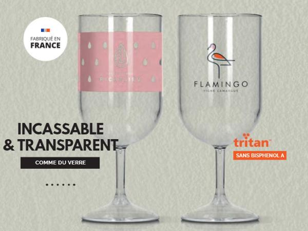 Verre à Vin en Plastique Réutilisable de 18 cl