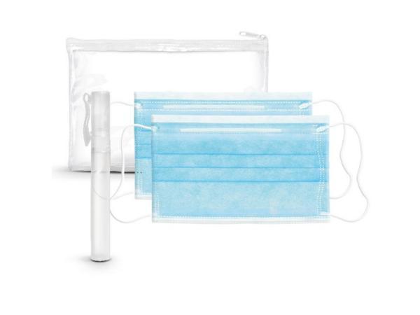Kit Trousse Zippée avec 2 Masques et Vaporisateur de 9 ml - visuel 3