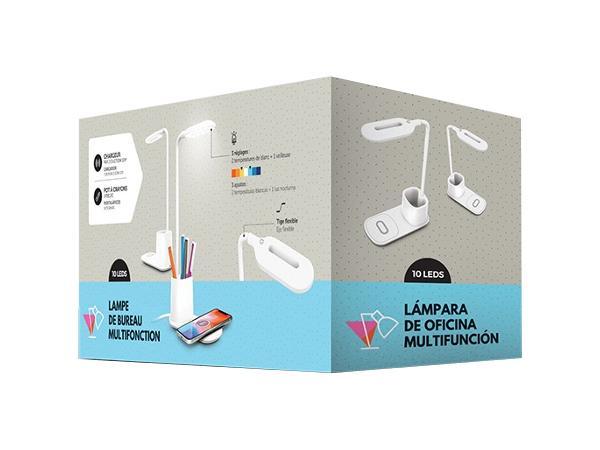 Lampe de Bureau avec Pot à Crayons et Chargeur Induction 10 W - visuel 2
