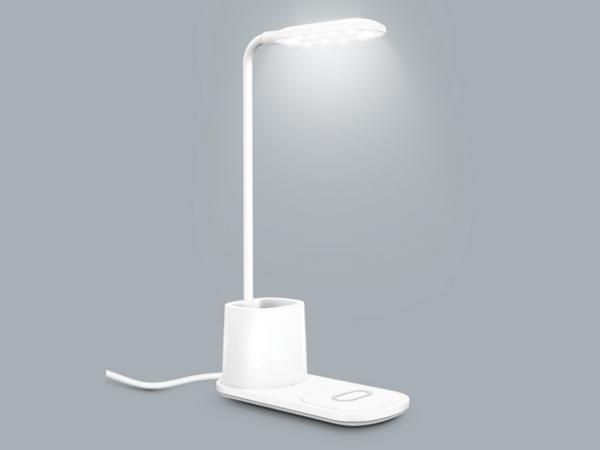 Lampe de Bureau avec Pot à Crayons et Chargeur Induction 10 W - visuel 3