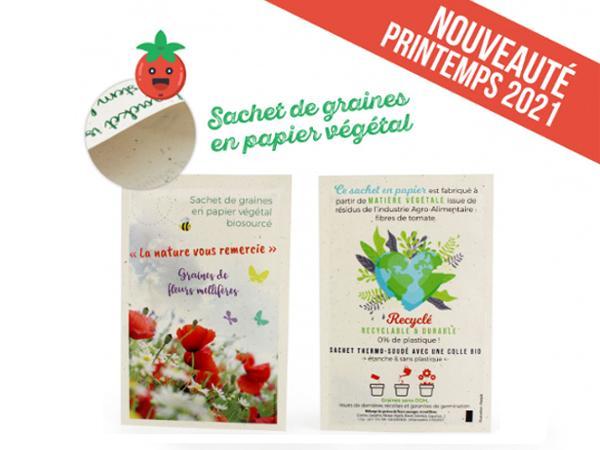 Petit Sachet de Graines en Papier Végétal - Recyclé, Recyclable