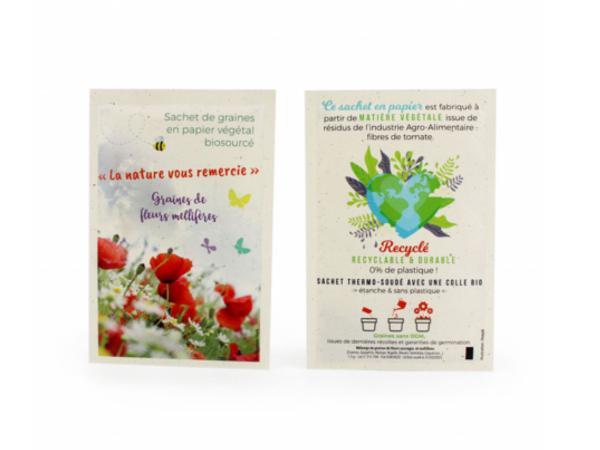 Petit Sachet de Graines en Papier Végétal - Recyclé, Recyclable - visuel 2