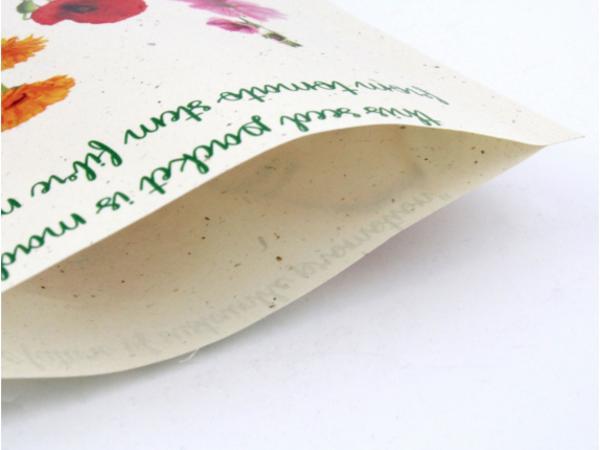 Petit Sachet de Graines en Papier Végétal - Recyclé, Recyclable - visuel 3