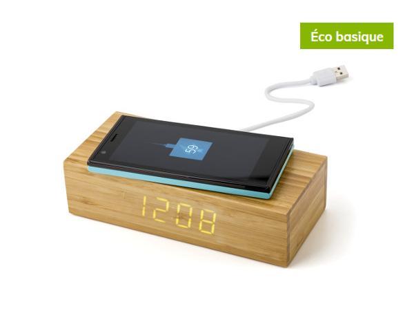 Réveil et Chargeur à Induction en Bambou