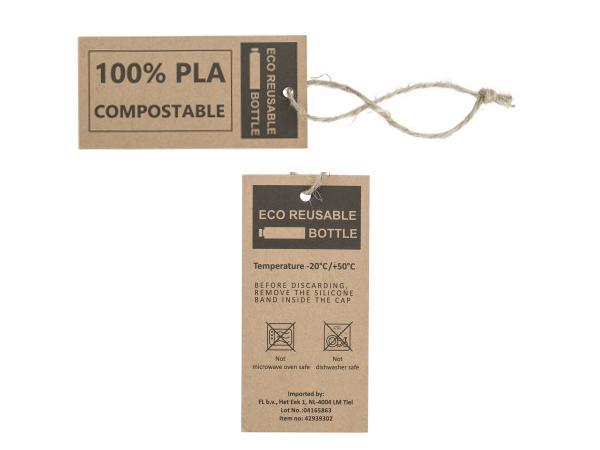 Bouteille 100 % PLA d'Origine Végétale de 850 ml - visuel 2