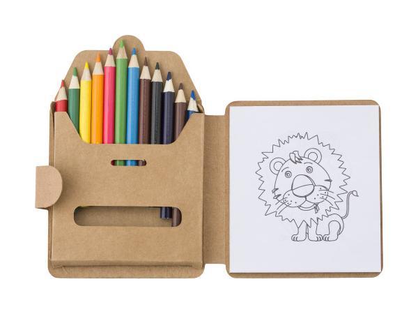 Set de Coloriage avec 12 Crayons de Couleurs