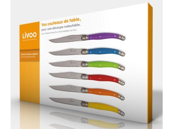 Set de 6 Couteaux de Table Laguiole - visuel 2