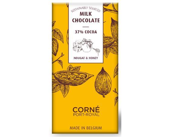 Tablette de 70 g Chocolat au Lait au Nougat et Miel