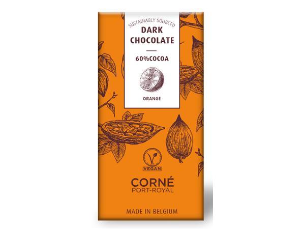 Tablette de 70 g Chocolat Noir 60 % à l'Orange Confite