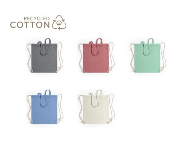 Sac à Dos et Sac Shopping 100% Coton Recyclé - visuel 2