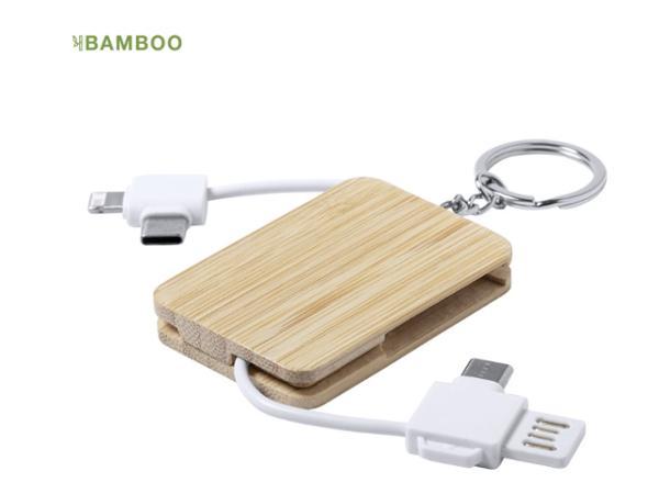 Porte-Clés Chargeur en Bambou