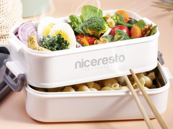 Lunch Box Thermique  de 850 ml avec 2 Compartiments