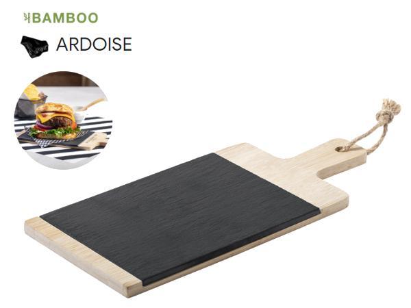 Planche à Découper en Bambou et Ardoise