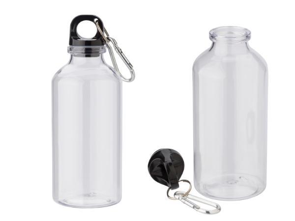 Gourde Transparente en RPET de 400 ml avec Mousqueton